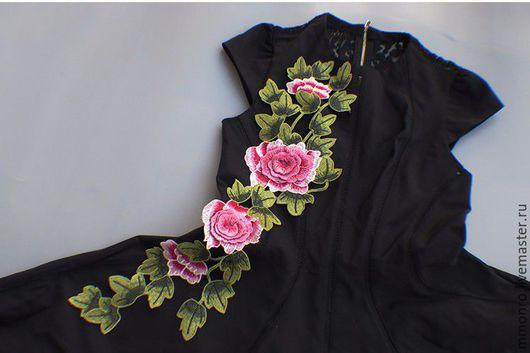 Аппликации, вставки, отделка ручной работы. Ярмарка Мастеров - ручная работа. Купить Бесподобная 3Д вышивка, аппликация, Розита. Handmade.
