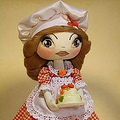 Куклы и игрушки ручной работы. Ярмарка Мастеров - ручная работа куколка «Повар-кондитер». Handmade.