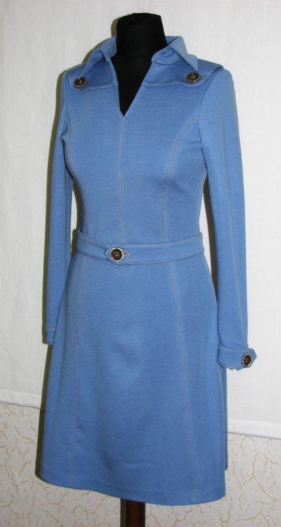 Платья ручной работы. Ярмарка Мастеров - ручная работа. Купить Трикотажное платье. Handmade. Синий