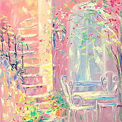 Картины и панно handmade. Livemaster - original item Oil painting on canvas with stretcher 35/45. Sweet summer. Handmade.