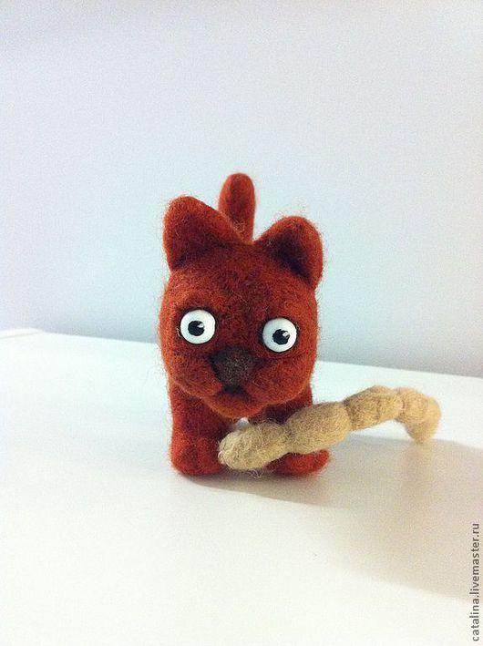 Игрушки животные, ручной работы. Ярмарка Мастеров - ручная работа. Купить Мурррзик из шерсти. Handmade. Рыжий, Валяный кот