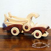 "handmade. Livemaster - original item Вальдорфская игрушка. Грузовик из дерева ""Пикапыч"". Handmade."