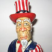 "Сувениры и подарки handmade. Livemaster - original item ""Uncle Sam"" - a decorative bottle topper on a stand.. Handmade."