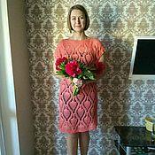 Одежда ручной работы. Ярмарка Мастеров - ручная работа Коралловое платье. Handmade.