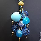 Украшения ручной работы. Ярмарка Мастеров - ручная работа Бусы Голубая гроздь. Handmade.