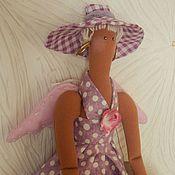 тильда-ангел Сиреневый  нежная кукла Весенняя