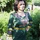 """Платья ручной работы. Ярмарка Мастеров - ручная работа. Купить Платье""""Восток"""". Handmade. Болотный, длинное платье, лен палтье"""