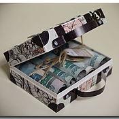 """Открытки ручной работы. Ярмарка Мастеров - ручная работа Коробочка для денег """"Чемодан"""". Handmade."""