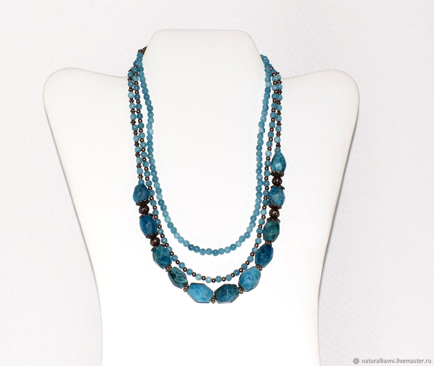 Necklace and bracelet made of natural aquamarine and Apatite, Jewelry Sets, Moscow,  Фото №1