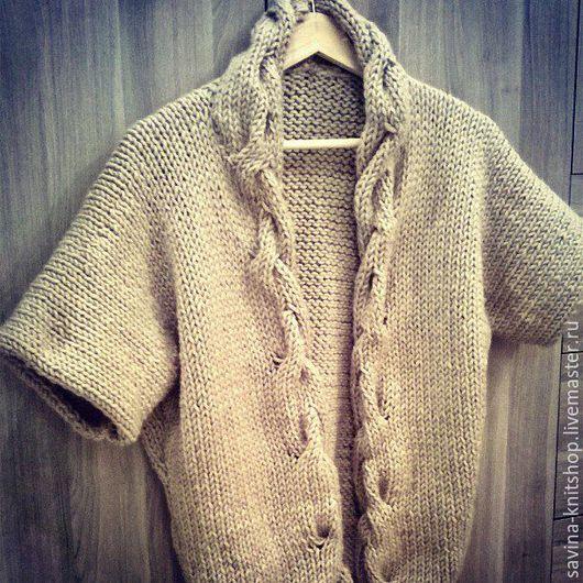Пиджаки, жакеты ручной работы. Ярмарка Мастеров - ручная работа. Купить Вязаный кардиган. Handmade. Однотонный, вязаныйкардига