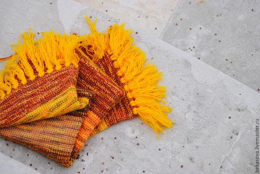 """Текстиль, ковры ручной работы. Ярмарка Мастеров - ручная работа. Купить Коврик """"Солнечная осень"""". Handmade. Коврик, вязаный крючком"""