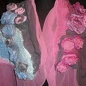 Аксессуары ручной работы. Ярмарка Мастеров - ручная работа палантин Шелковая роза. Handmade.