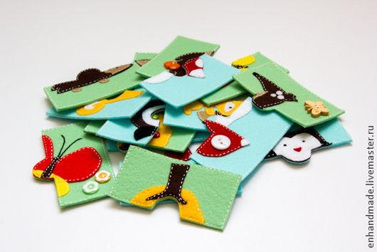 Развивающие игрушки ручной работы. Ярмарка Мастеров - ручная работа. Купить Пазлы из фетра. Handmade. Фетр, подарок