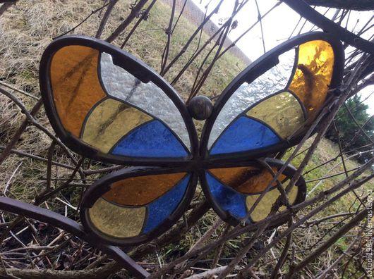 Экстерьер и дача ручной работы. Ярмарка Мастеров - ручная работа. Купить Пергола с бабочками. Handmade. Пергола, Витраж Тиффани, комбинированный