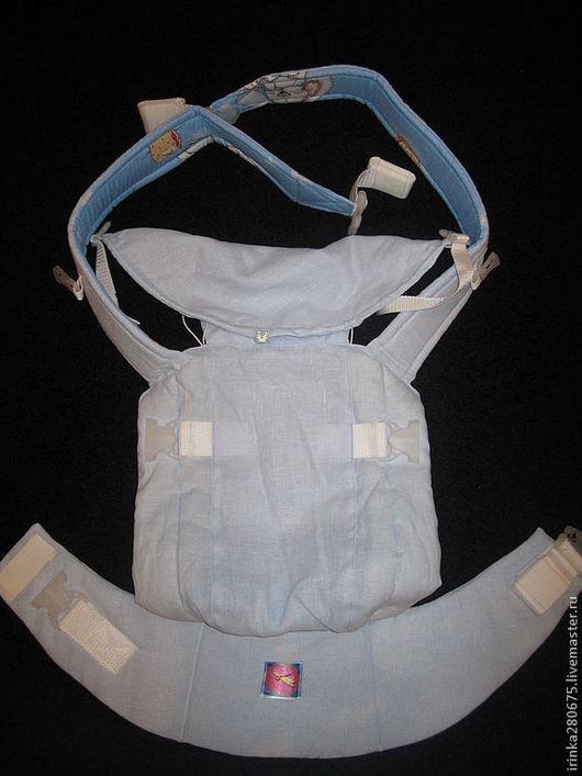 Слинги ручной работы. Ярмарка Мастеров - ручная работа. Купить Скидка 50% на Эргономичный рюкзак для переноски малышей. Handmade. Голубой