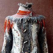 """Одежда ручной работы. Ярмарка Мастеров - ручная работа пальто валяное из войлока """"Ноябрь"""". Handmade."""