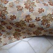 Ткани ручной работы. Ярмарка Мастеров - ручная работа Гобеленовое покрывало - багряный клен. Handmade.