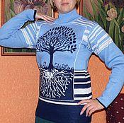 Одежда ручной работы. Ярмарка Мастеров - ручная работа Свитер жаккардовый. Handmade.
