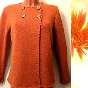 Одежда handmade. Livemaster - original item Jacket knitted Calendula (Angora). Handmade.