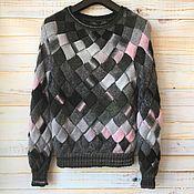 Одежда handmade. Livemaster - original item Sweater S, height up to 168 black-gray-pink. Handmade.