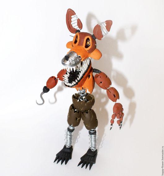 Игрушки животные, ручной работы. Ярмарка Мастеров - ручная работа. Купить Игрушка из полимерной глины персонаж компьютерной игры Foxy.. Handmade.