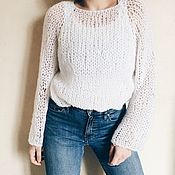 Свитеры ручной работы. Ярмарка Мастеров - ручная работа Базовый свитер крупной вязки #w&f. Handmade.