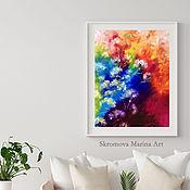 Картины и панно handmade. Livemaster - original item Painting with delicate flowers. Fantasy oil painting with flowers.. Handmade.