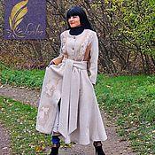 Одежда handmade. Livemaster - original item Women`s demi-season coat with embroidery (378). Handmade.