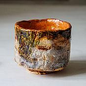 """Посуда ручной работы. Ярмарка Мастеров - ручная работа пиала, тяван """"нори"""" керамика раку. Handmade."""