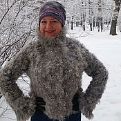 "Одежда ручной работы. Ярмарка Мастеров - ручная работа Валяная зимняя куртка ""Каракуль"". Handmade."