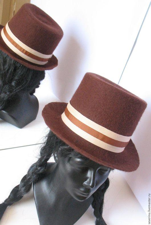 """Шляпы ручной работы. Ярмарка Мастеров - ручная работа. Купить шляпа """"Пряный шоколад"""". Handmade. Винтаж, эксклюзивный, оригинальный, креативный"""
