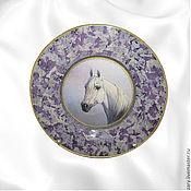 """Для дома и интерьера ручной работы. Ярмарка Мастеров - ручная работа Тарелка """"Сиреневая лошадь"""". Handmade."""