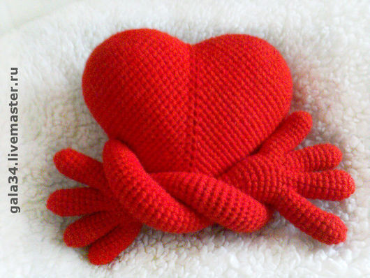 Gifts for Lovers handmade. Livemaster - handmade. Buy Heart handy :).Knitted toy, author toy, Valentine's Day