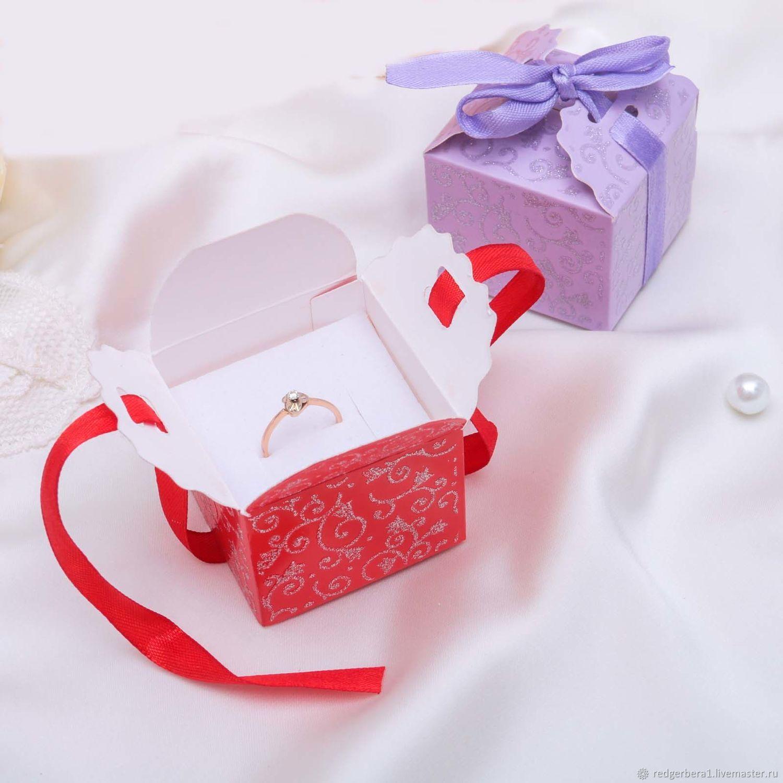 Wring Supplies Handmade Livemaster Under Gift Box Ring Earrings Square