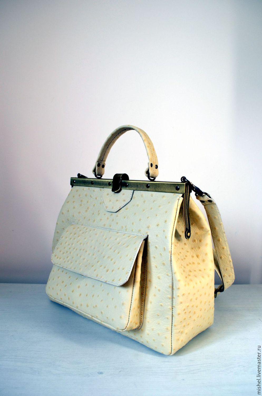 Женские сумки через плечо из кожи под страуса, купить