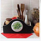 """Для дома и интерьера ручной работы. Ярмарка Мастеров - ручная работа короб для кухни """"Летний букет"""". Handmade."""