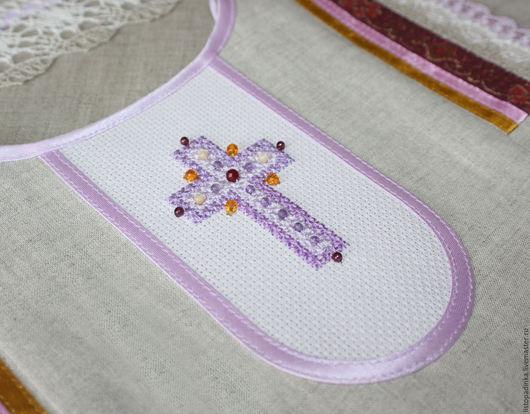 `Вересковый мёд` - фрагмент платья, вышитый крест