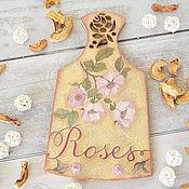 Для дома и интерьера ручной работы. Ярмарка Мастеров - ручная работа Вешалка для кухни Roses. Handmade.