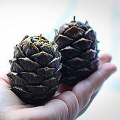 Сувениры и подарки handmade. Livemaster - original item Scented candles-pinecones. Handmade.