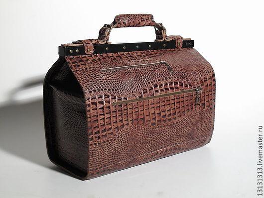 Женские сумки ручной работы. Ярмарка Мастеров - ручная работа. Купить Большой Кожаный саквояж от Vad Us. Handmade.
