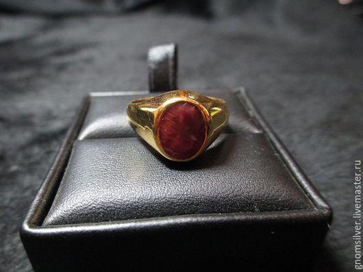 """Кольца ручной работы. Ярмарка Мастеров - ручная работа. Купить Золотое кольцо с андезином (2,02 карат) """"Кровь дракона"""". Handmade."""