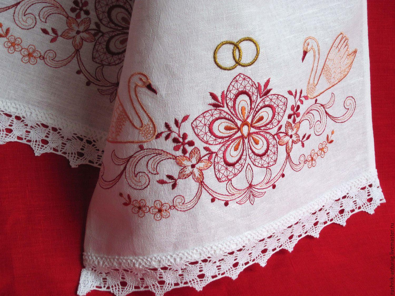 Картинки по запросу лебеди на свадебном рушнике