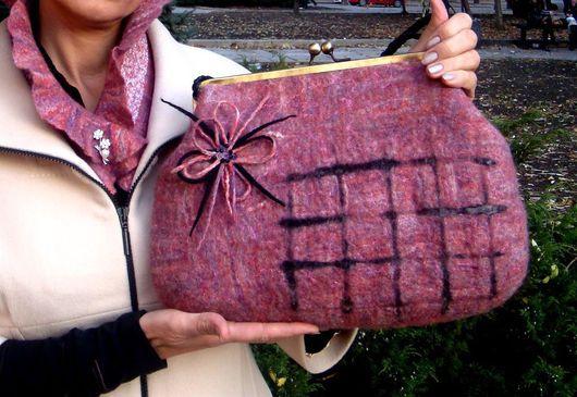 Handbags handmade. Livemaster - handmade. Buy Bag pink.Wool merino