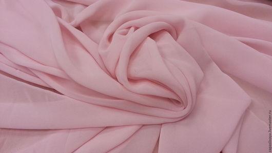 Шитье ручной работы. Ярмарка Мастеров - ручная работа. Купить Розовый шелковый шифон. Handmade. Купить в москве, шифон