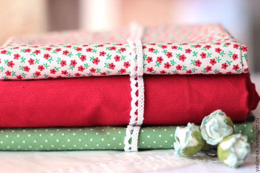 Шитье ручной работы. Ярмарка Мастеров - ручная работа. Купить Набор тканей Маленькие Цветочки. Handmade. Ткань для рукоделия, ткань