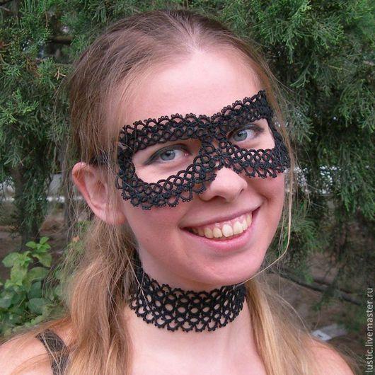 Готика ручной работы. Ярмарка Мастеров - ручная работа. Купить Чёрная маска из кружева фриволите. Handmade. Фриволите, Новый Год