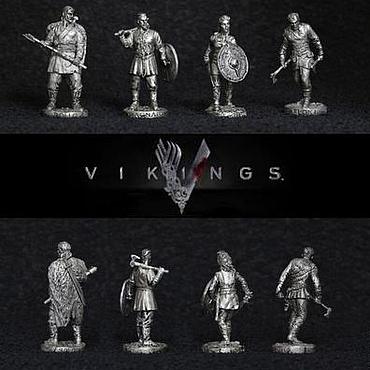 4 викинга в олове