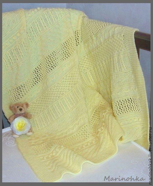 """Пледы и одеяла ручной работы. Ярмарка Мастеров - ручная работа. Купить Плед """"Моё солнышко"""". Handmade. Желтый, детский плед"""