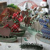 Сувениры и подарки handmade. Livemaster - original item New year`s knitted bull. Bull decoupage. Handmade.