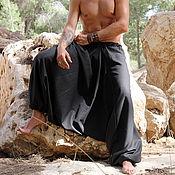 Одежда ручной работы. Ярмарка Мастеров - ручная работа Штаны Али-баба для мужчин с карманами. Handmade.